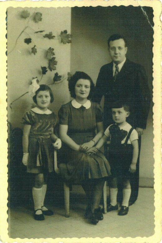 1c With my mother father and brother in Paris May 1939