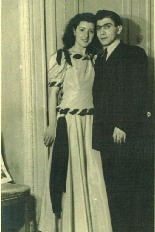 6c With Welwel in Paris at a dance January 16 1949