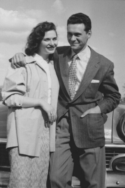 Philip and his wife, Molly. Toronto, circa 1958.