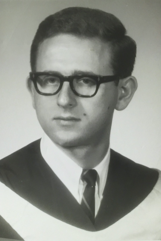 Joe's graduation picture from the University of Western Ontario (now Western University). London, Ontario, circa late 1960s.