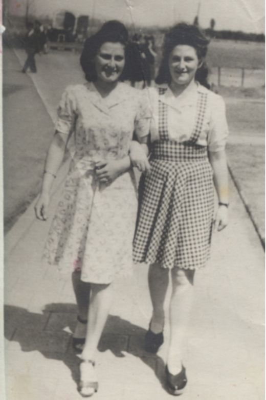 Rose's aunt Rose (left) and Rose in 1946.